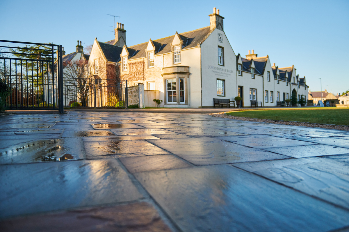 Johnstons of Elgin Paving by George Innes Builders, Elgin, Moray